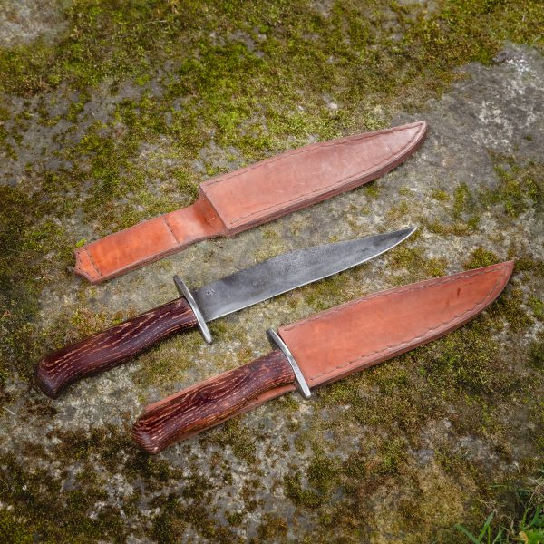 Bowie Knife with Wooden Handle