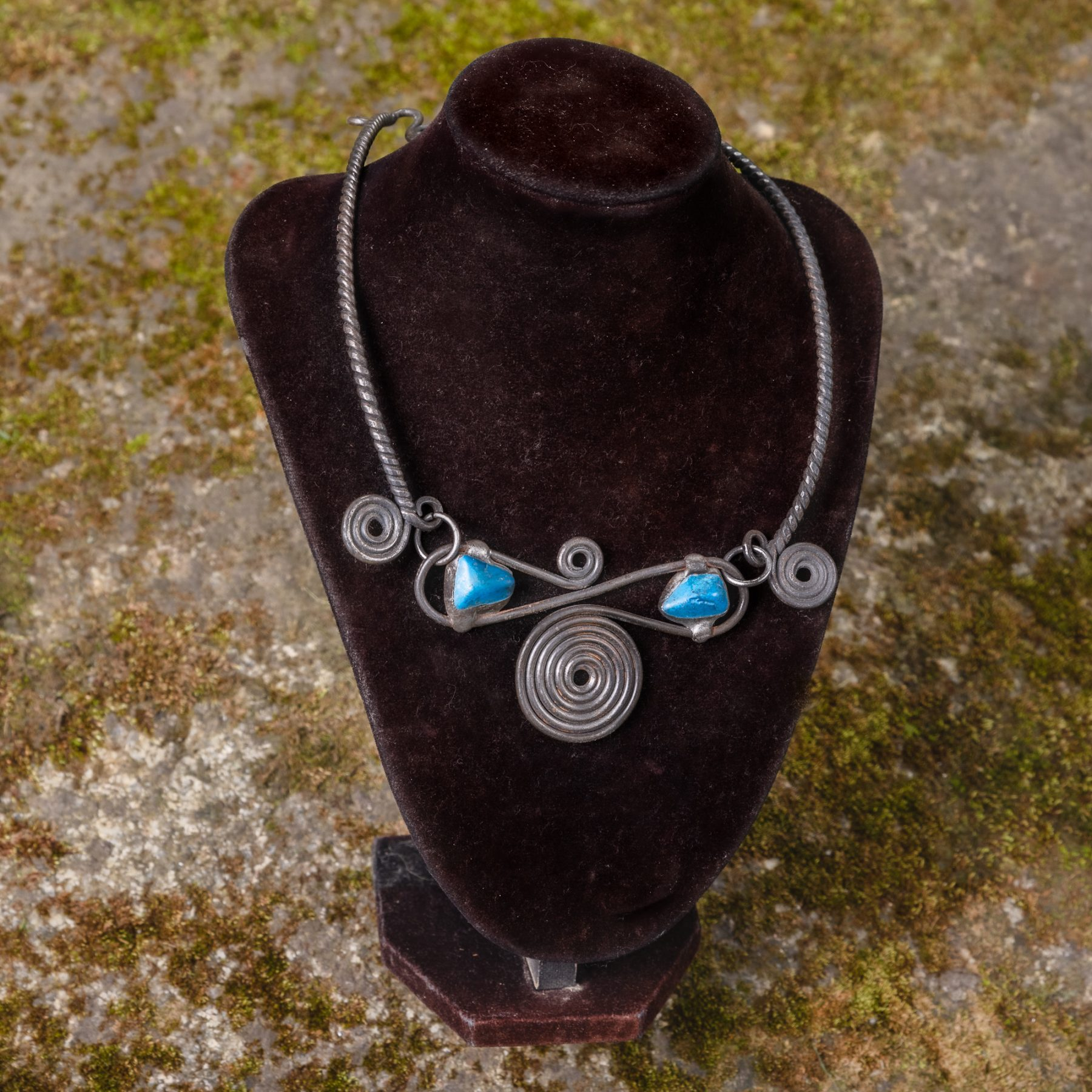 Torques Necklace with Ornaments and Gem Stones v.1