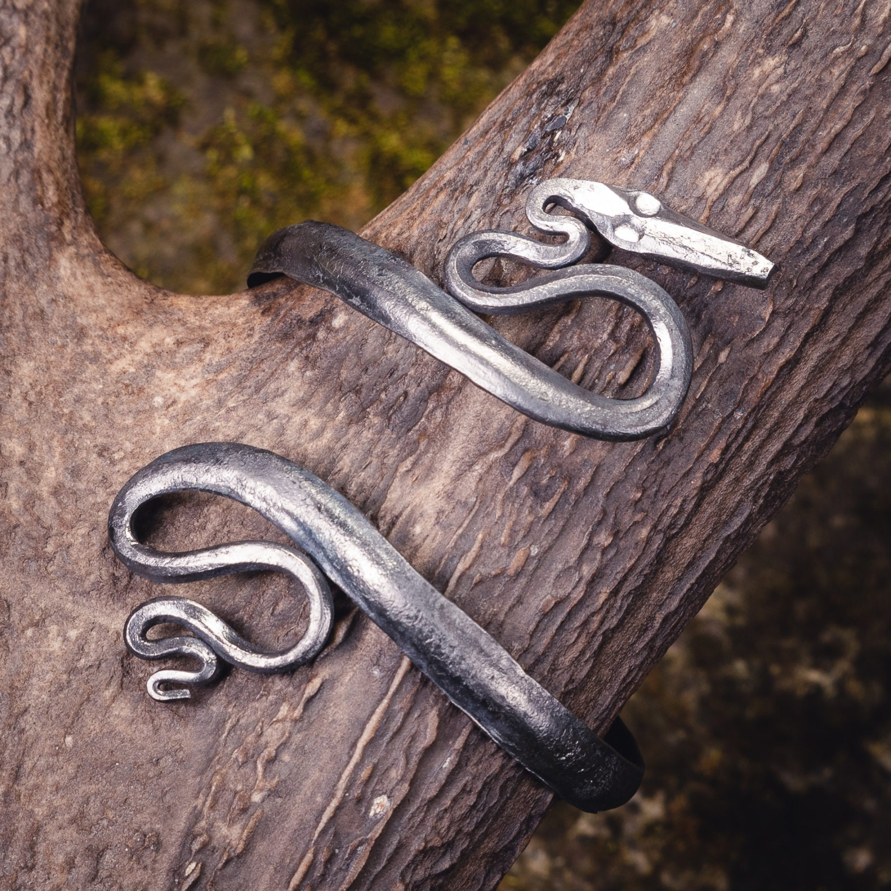Forged Bracelet with Snakes