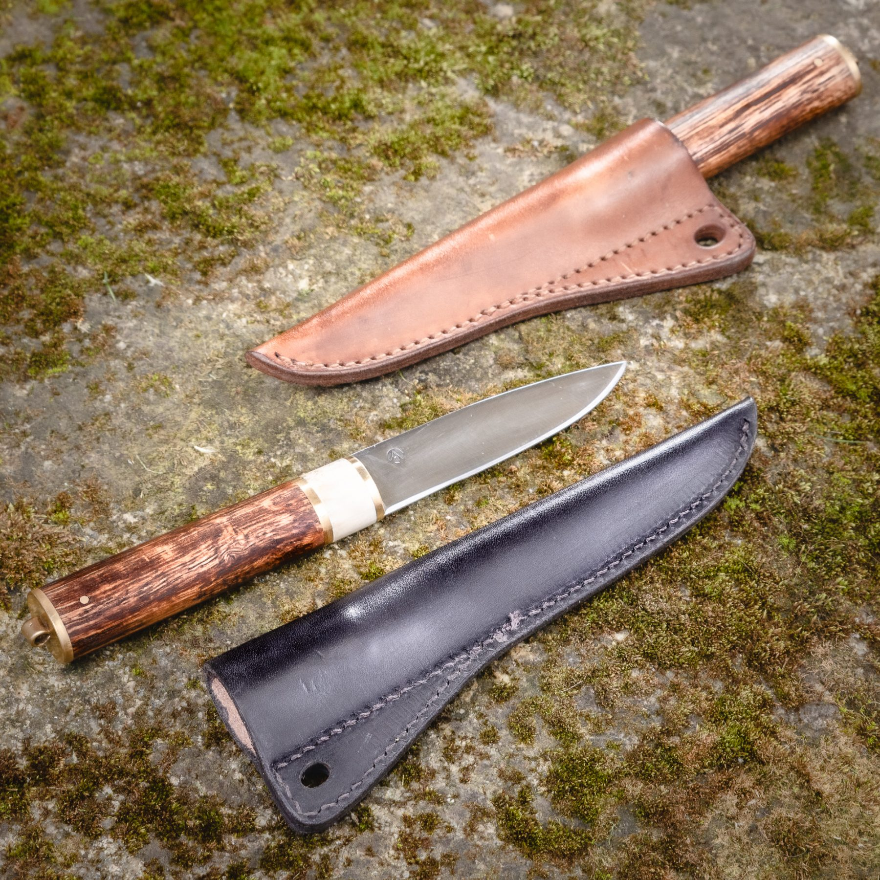 Nordic knife with combined handle
