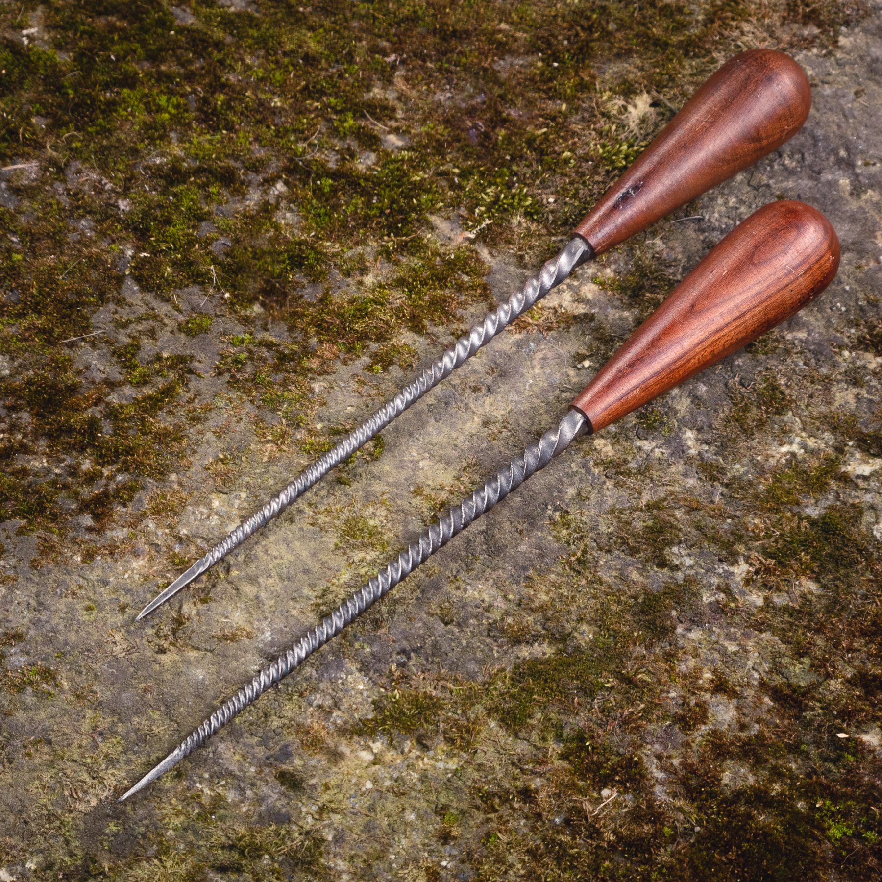 Forge Steel Skewers with Wooden Handle