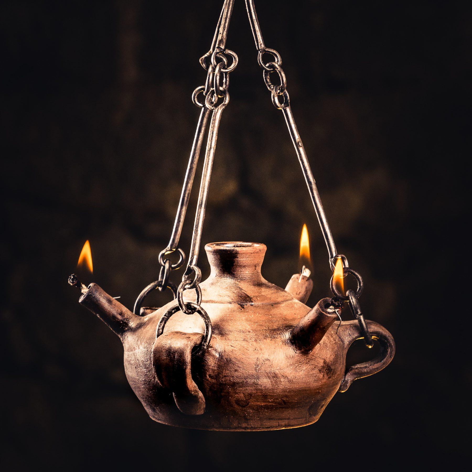 Triton Hanging Oil Lamp