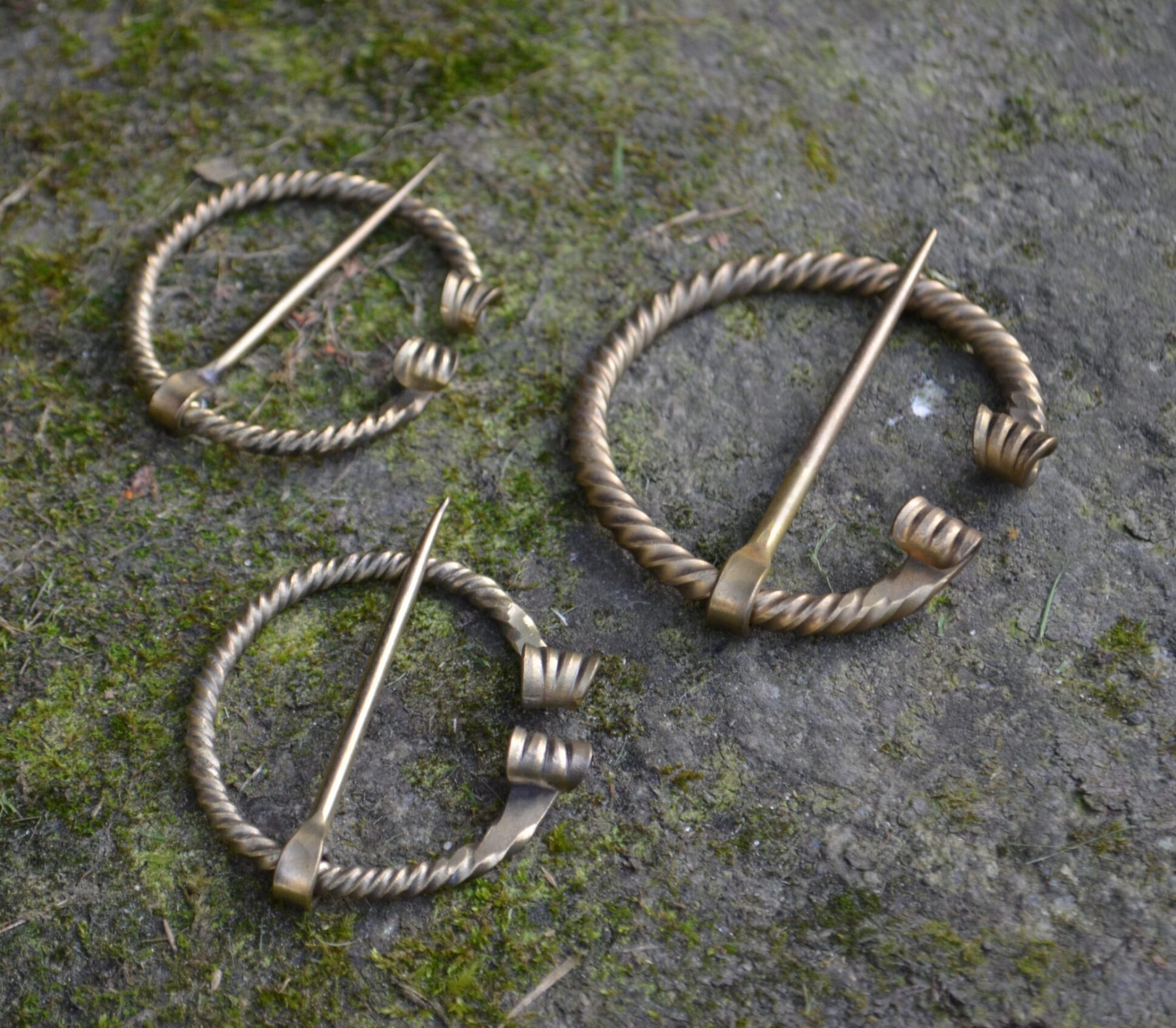 Brass Cloak Pin