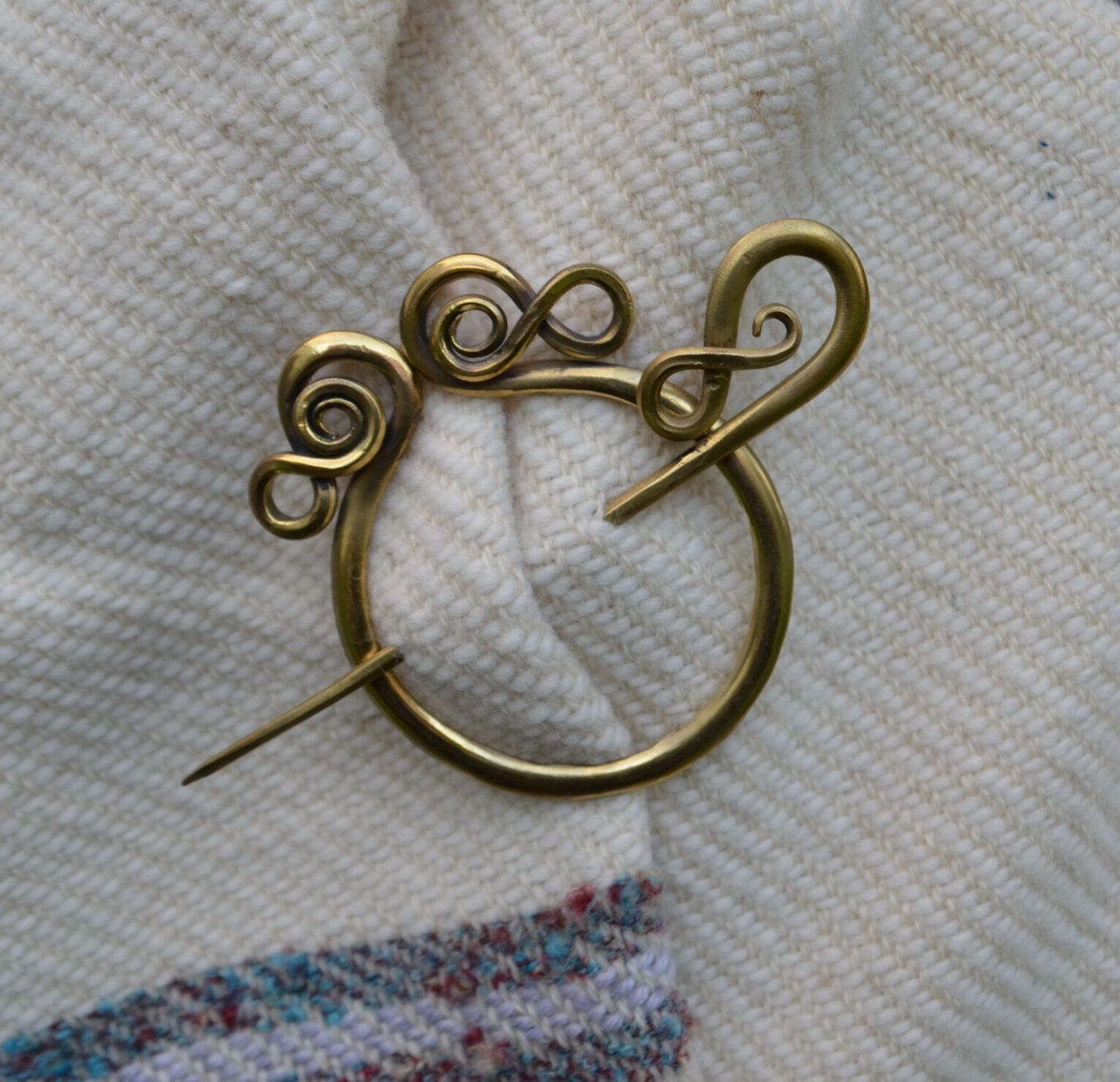 Brass Cloak Pin II