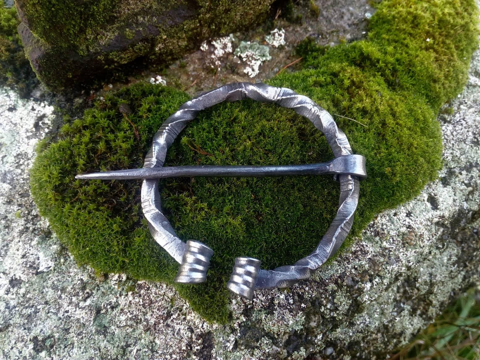 Early Medieval Cloak Pin – Steel