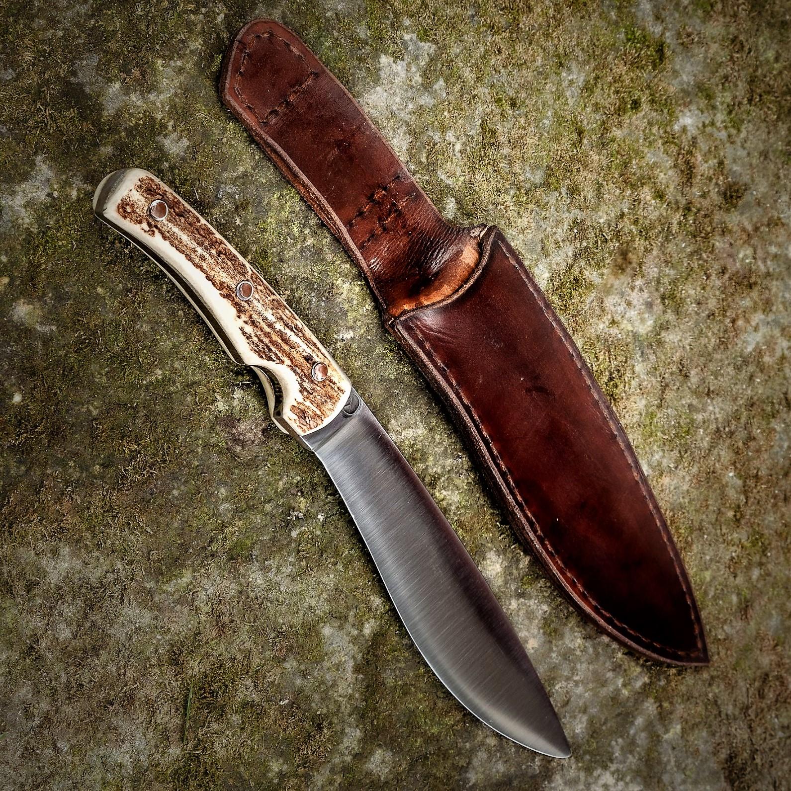 Buckhorn Handle and Leather Sheath