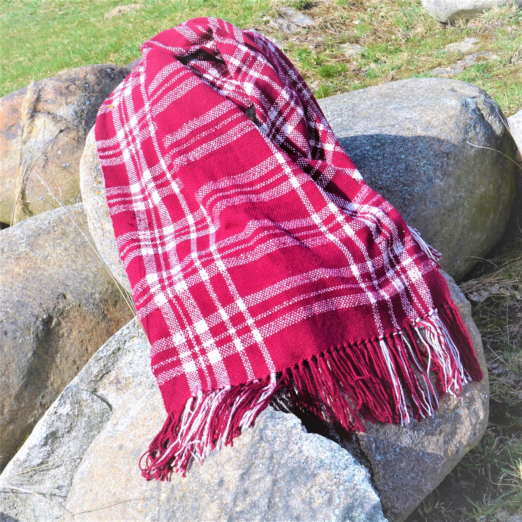 Plaid I – Seheep Wool – Red