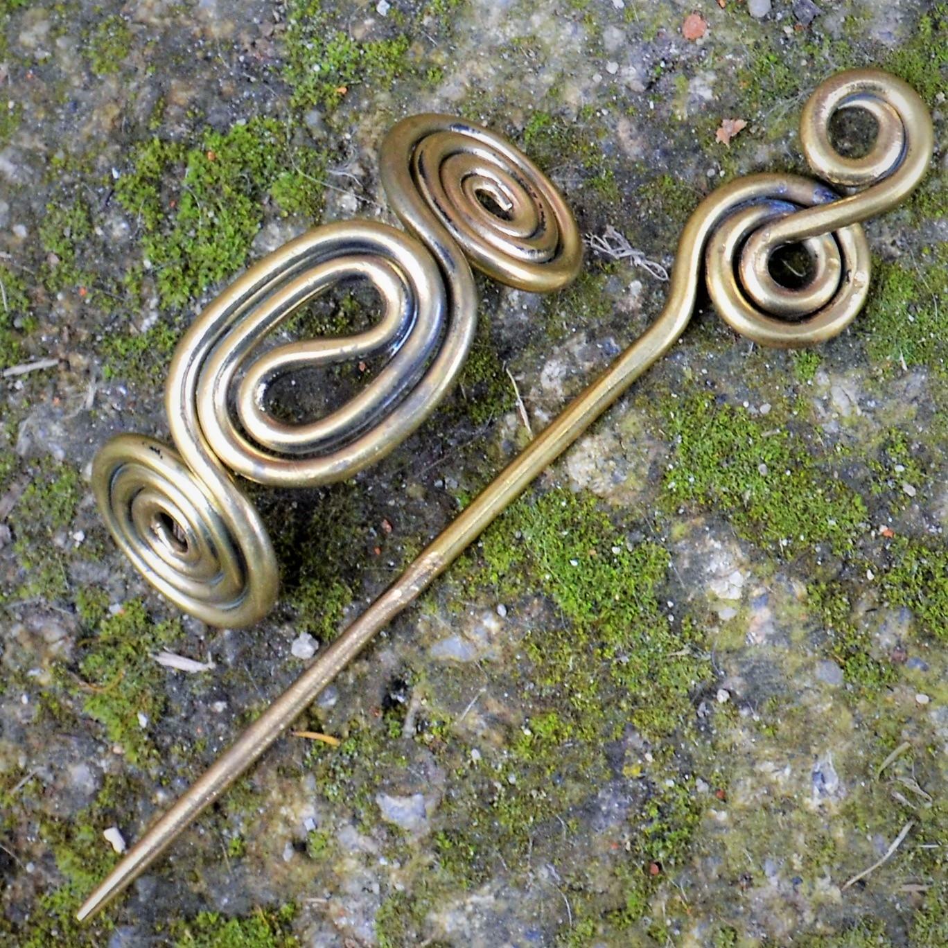 Brass Hair Pin III