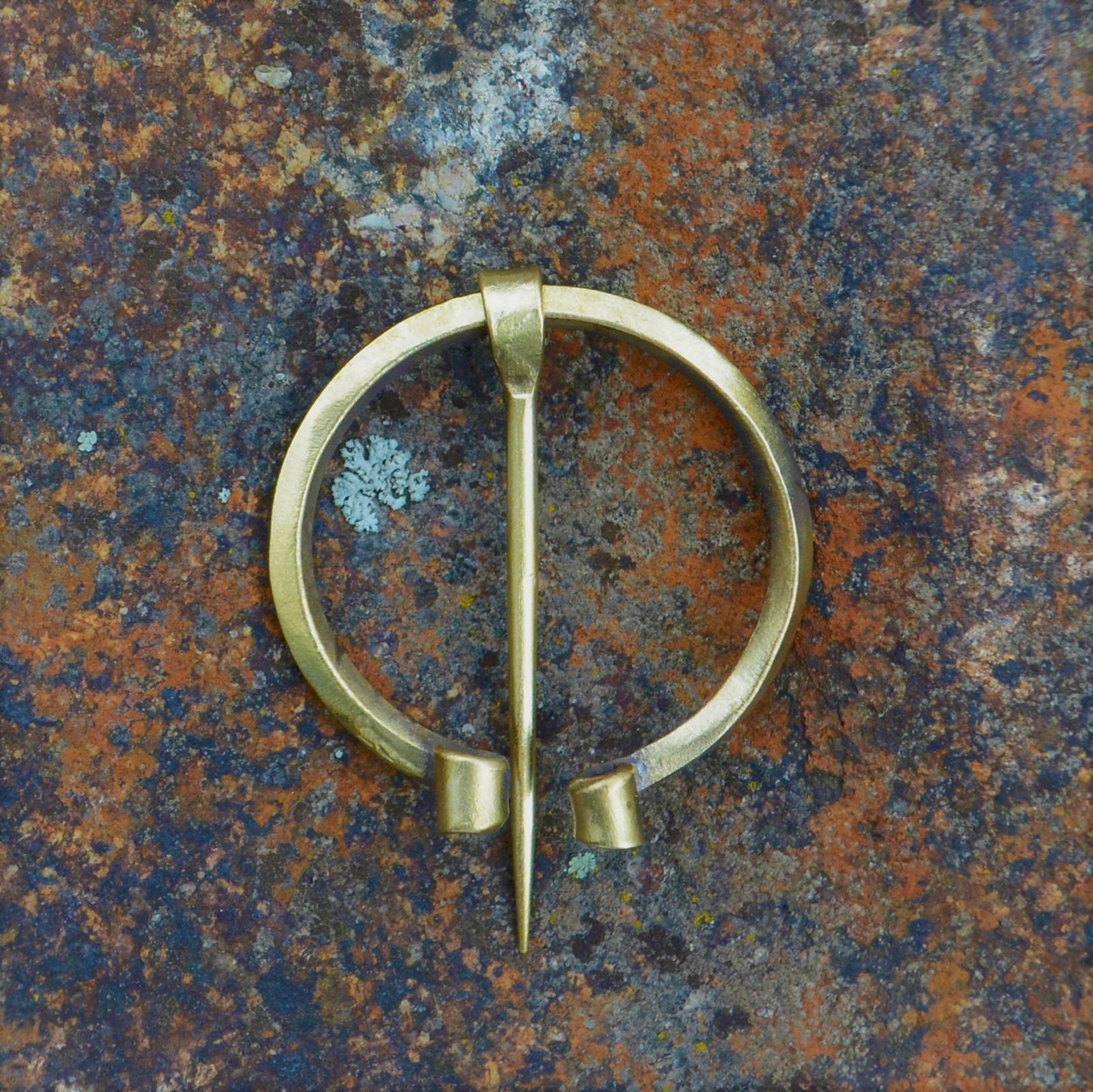 Cloak Pin (Fibula) -Early Medieval III – Brass